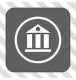 Bank Building Rounded Square Button vector image