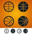 basketball sign vector image