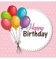 Card balloons happy birthday graphic vector image