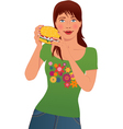 Fast food lover vector image