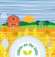 Flat design of vegetarian food healthy eating vector image