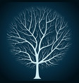 graphic design bright tree silhouette on a dark vector image
