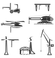 Icons set of cranes vector image