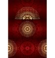 Set of vintage floral backgrounds vector image