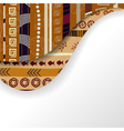 Abstract background with African elements vector image