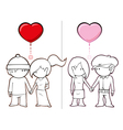 Boys Want Girls and Girls Want Boys vector image