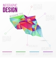 infographic with colorful abstract 3d vector image