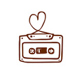 Hand Drawn Mix Tape vector image