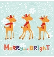Colorful Merry Christmas composition with happy vector image vector image