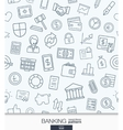 Banking or finance wallpaper Black and white bank vector image vector image