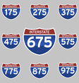 INTERSTATE SIGNS 175-975 vector image