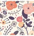 Seamless vintage floral pattern vector image