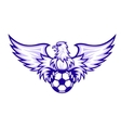 Eagle with ball vector image