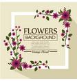floral background decorative frame vector image