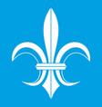 lily heraldic emblem icon white vector image