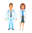 man and woman doctor vector image