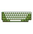 Blank Computer keyboard vector image vector image