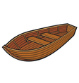 wooden boat vector image vector image