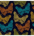 Zentangle stylized Butterfly seamless pattern for vector image vector image