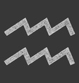 Aquarius zodiac sign line art vector image