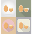 food objects flat icons 05 vector image