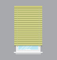 apartment window with jalousie isolated vector image