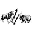 Bull Bear Stock market vector image