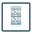 Emergency fire ladder icon vector image