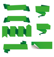Green Labels vector image