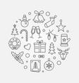 happy new year circular in vector image