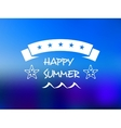 Happy summer five star banner vector image