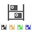 medical goods shelves flat icon vector image