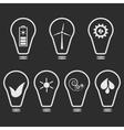 Set of white eco logos on white vector image