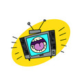shouting television set vector image