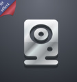 Web cam icon symbol 3D style Trendy modern design vector image
