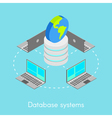 Concept for online database systems vector image