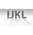 Fingerprint alphabet vector image