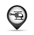 symbol helicopter pin map icon vector image