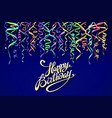 party background with horn birthday background vector image