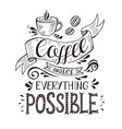banner with coffee cup and quote vector image
