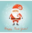 Santa Claus for retro christmas card vector image