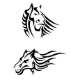 Tribal horses mascots vector image vector image