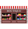 Picture of a fashion boutique with shoes and bags vector image vector image