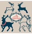 Set - symbols and elements and Christmas reindeer vector image