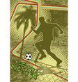 vintage urban grunge soccer vector image vector image