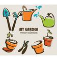 my garden vector image