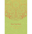 Vintage Floral invitation cards vector image