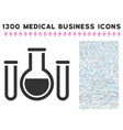 analysis glassware icon with 1300 medical business vector image