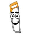 Cartoon hand saw or hacksaw vector image