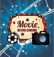 cinema entertainment design vector image